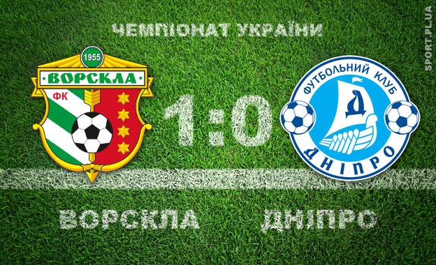 «Дніпро» програв вгостях у«Ворскли» тавилетів зПрем'єр-ліги